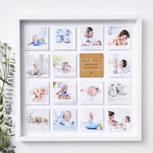 Personalised Framed Baby Photo Print - new baby gifts