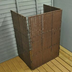 Windy Willows Single Rattan Style Bin Screen