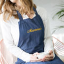 Personalised Mumma's Denim Apron