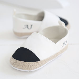 Personalised Espadrilles - personalised gifts for babies