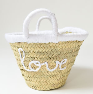 """Love"" Mini Basket - bedroom"