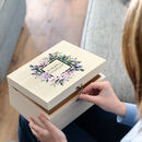 Personalised Floral Wedding Keepsake Box