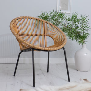 Tub Chair With Bamboo Frame In Two Colours - furniture