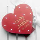 Personalised Light Up Red Heart