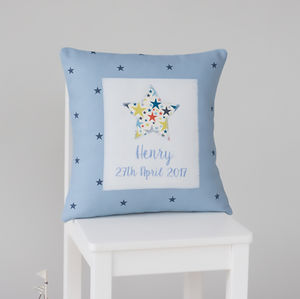 Personalised Handmade Little Star Cushion - children's room