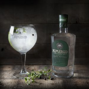 Norwegian Kimerud Wild Grade Gin With Branded Gin Glass
