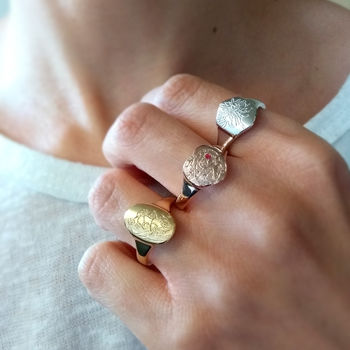 Personalised Birth Flower Ring