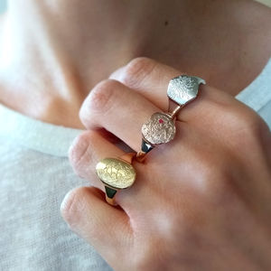 Personalised Birth Flower Ring - 30th birthday gifts