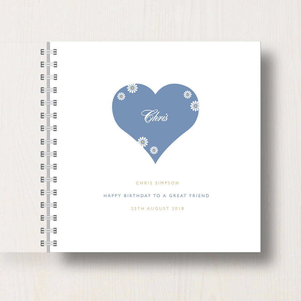 Unique present Personalised photo album 25th birthday or any age memroy book