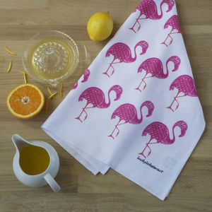 Flamingo Teatowel - kitchen accessories