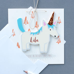 Personalised Unicorn Christmas Card - christmas cards