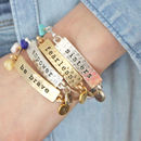 Personalised Mantra Bracelet With Birthstone