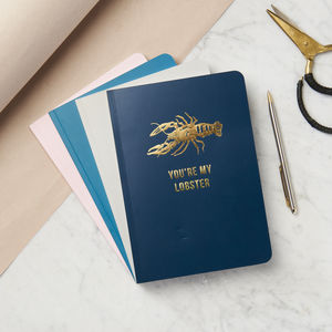 Personalised Gold Foil Lobster Notebook