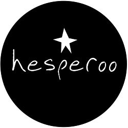 Hesperoo logo in black and white with star