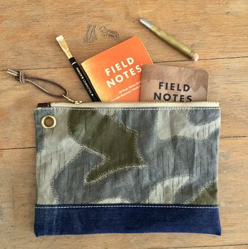 Vintage Camouflage Pouch