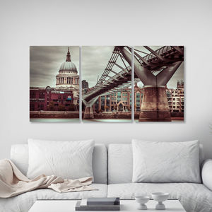 St Pauls Cathedral Triptych Canvas Wall Art - photography