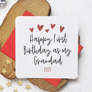 First Birthday As My Grandfather Personalised Card