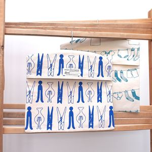 Screen Printed Laundry Design Peg Bags - shop by price