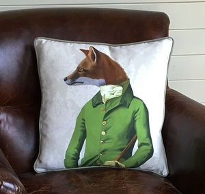 Fox In Green Decorative Cushion - cushions