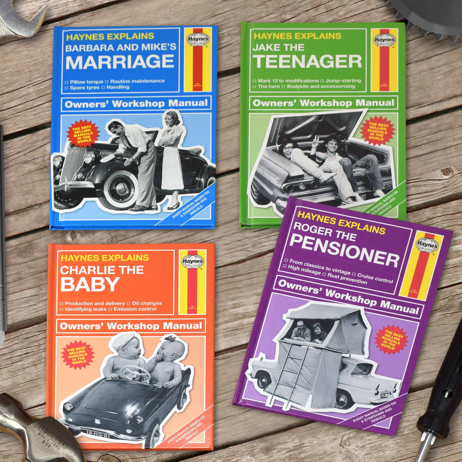 personalised haynes manuals by the letteroom notonthehighstreet com rh notonthehighstreet com