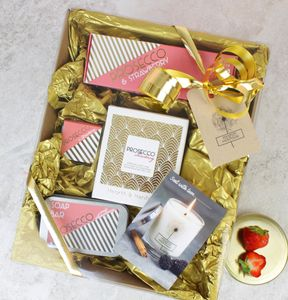 Large Prosecco Themed Pamper Hamper - bath & body