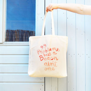 99 Problems Beach Bag - nostalgic british seaside