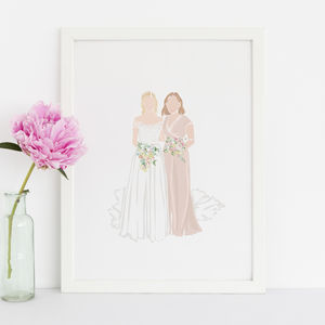 Friend Custom Portrait Illustration - new gifts for her
