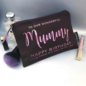 Chocolate And Metallic 'Starlight' Text Make Up Bag - make-up bags