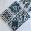 Mediterranean Design Blue And White Coasters