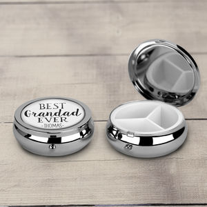 Personalised 'Best Grandad Ever' Pill Box
