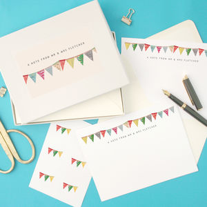 Personalised Bunting Writing Set - thank you cards
