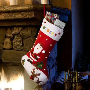 Personalised Large Santa And Rudolph Christmas Stocking - stockings & sacks