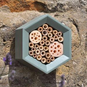 Handcrafted Bee Hotel - garden lovers