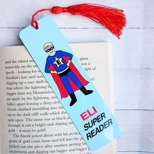 Superhero Personalised Bookmark