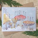 Merry Christmas Toadstool Card