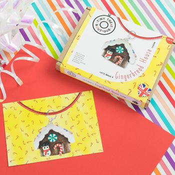 Gingerbread House Themed Jewellery Craft Kit