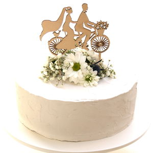 Wedding Cake Topper Bicycle Made For Two - cake toppers & decorations