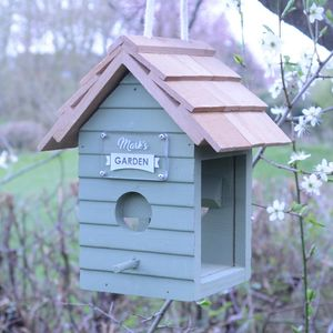 Personalised Green Bird Seed Feeder - birds & wildlife