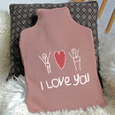 Hot Water Bottle With Your Child's Drawing