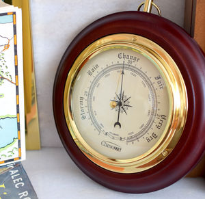 Personalised Wooden Barometer Dial - living room