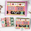 Bride Tribe Team Bride Tribal Tote Bag Card Gift Set