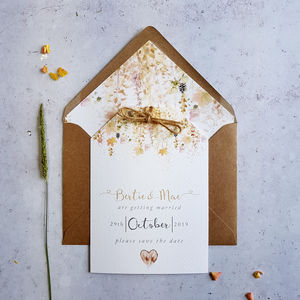'Whimsical Autumn' Save The Date