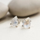 Rainbow Moonstone Teardrop Studs