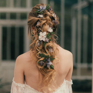 Elsa Flower Hair Vine - enchanted wedding trend