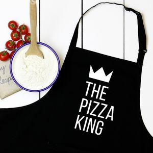 Personalised King Or Queen Of Foods Apron - baking