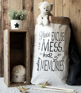 'Excuse The Mess' Paper Storage Bag - storage & organisers