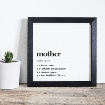 Personalised 'Mother' Definition Print