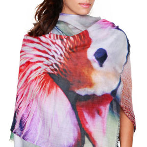 Gift For Her, Cashmere Silk Scarf, Duck - winter sale