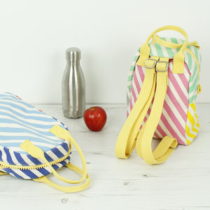 Organic Cotton Back Pack Lunch Bags
