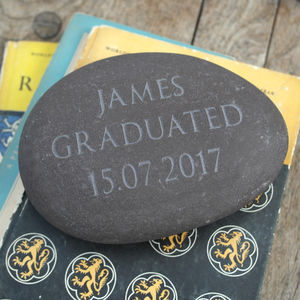 Personalised Engraved Stone Paperweight - decorative accessories